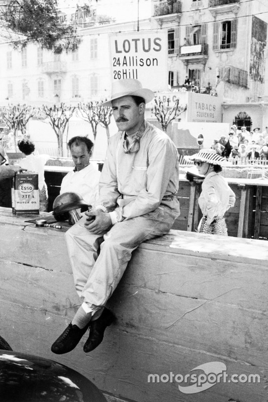 Graham Hill en Mónaco 1958, su debut con el Lotus 12-Climax