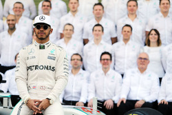 Lewis Hamilton, Mercedes AMG F1 at a team photograph