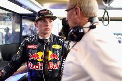 Max Verstappen, Red Bull Racing met Dr Helmut Marko, Red Bull Motorsport Consultant