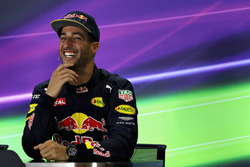 Press conference: third position Daniel Ricciardo, Red Bull Racing