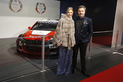 Yvan Muller and wife Severine