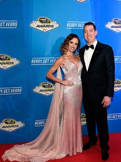 Kyle Busch, Joe Gibbs Racing Toyotay su esposa Samantha
