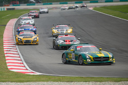 #52 SAITAMA TOYOPET Green Brave, Mercedes-Benz SLS AMG GT3, Taku Bamba, Takayuki Hiranuma, Naoki Hattori,Shogo Mitsuyama