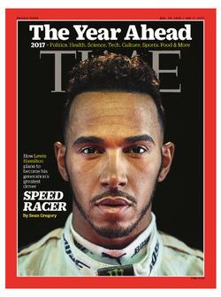 Lewis Hamilton in copertina sul Time Magazine