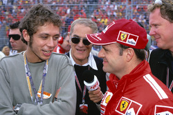 Rubens Barrichello, Ferrari und Valentino Rossi im Gespräch