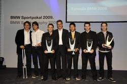 Alessandro Zanardi, Felipe Nasr, Gabby Chaves, Mario Theissen, Rio Haryanto, Gary Thompson, Robin Frijns