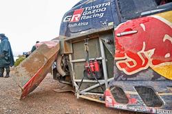 #301 Toyota Gazoo Racing, Toyota: Nasser Al-Attiyah, Matthieu Baumel, après le crash