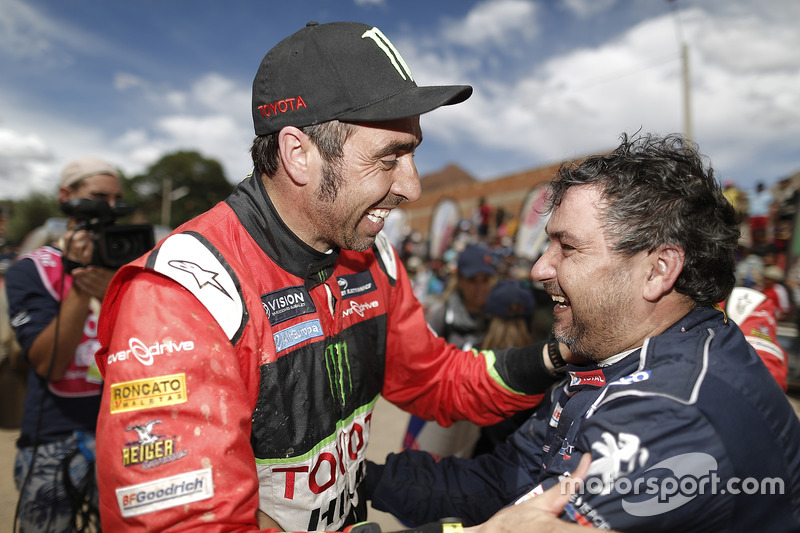 Nani Roma, Overdrive Racing Toyota y Daniel Elena, Peugeot Sport