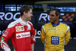 Sebastian Vettel and Juan Pablo Montoya