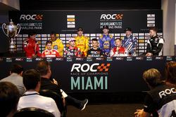 Basın Toplantısı: Sebastian Vettel, Travis Pastrana, Pascal Wehrlein, Tom Kristensen, Gabby Chaves, Juan Pablo Montoya, Ryan Hunter-Reay, Alexander Rossi, Scott Speed, Stefan Rzadzinski