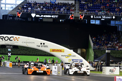 Sebastian Vettel and Alexander Rossi in the KTM X-Bow Comp R