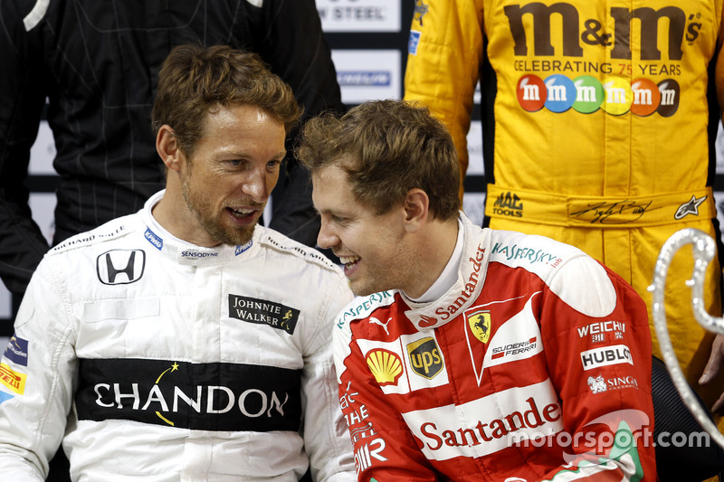 Jenson Button y Sebastian Vettel