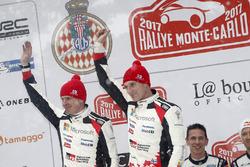 Podio: al secondo posto Jari-Matti Latvala, Miikka Anttila, Toyota Racing