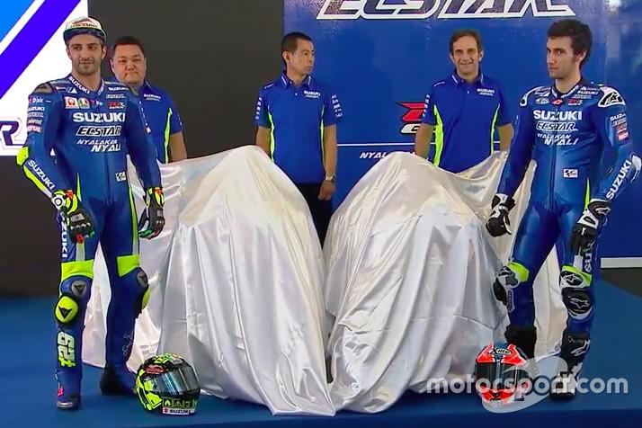Screenshoot: Andrea Iannone, Alex Rins mit der 2017 Suzuki MotoGP