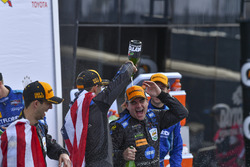 Podium: race winners Jordan Taylor, Jeff Gordon, Wayne Taylor Racing