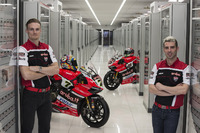 Chaz David and Marco Melandri, Ducati Team