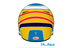 Casco de Fernando Alonso para la temporada 2017