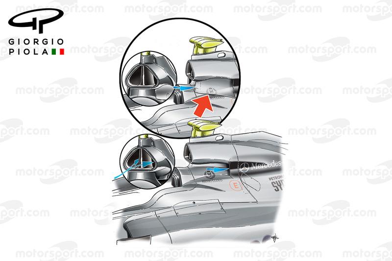 Air scoop Mercedes MGP W01