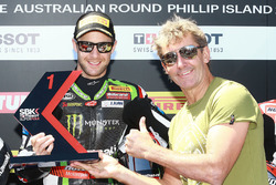 Polesitter Jonathan Rea, Kawasaki Racing with Troy Bayliss