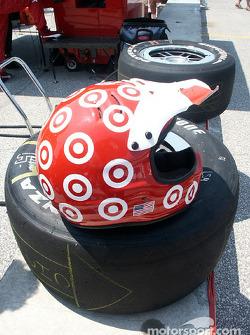 Target Chip Ganassi pit crew helmet