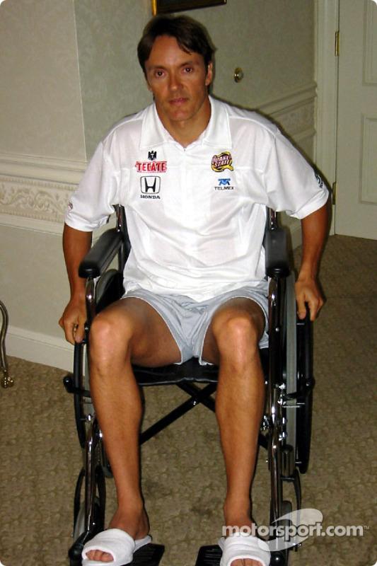 First days on wheelchair for Adrian Fernandez