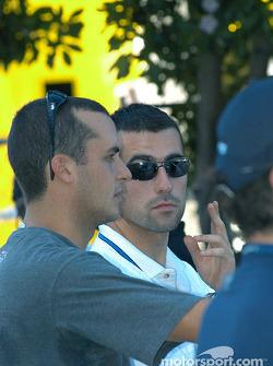 Michel Jourdain Jr. and Dario Franchitti