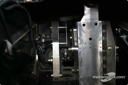 The modified brake pedal on Alex Zanardi's modified Champ car