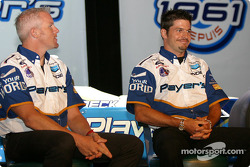 Team Player's press conference on Monday: Paul Tracy and Patrick Carpentier