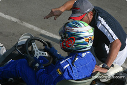 Rocketsports-Tagliani karting event: Alex Tagliani gives last-minute tips to Bronte before the Rocketsports team race