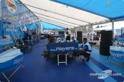 Team Player's paddock area