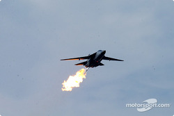 An RAAF F111 performs a 'dump and burn'