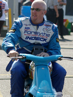 Paul Tracy arrives