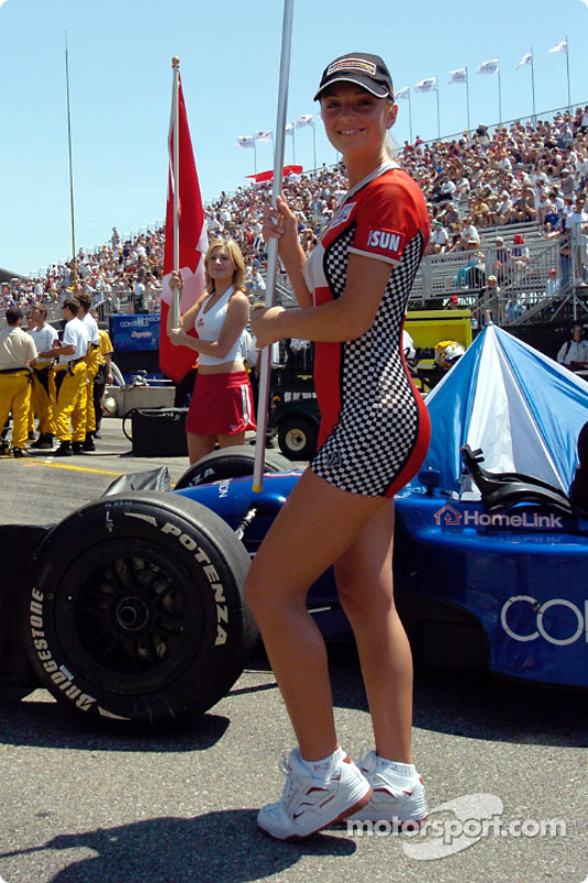 Les Flag et Grid Girls