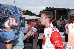 Interviews for pole winner Sébastien Bourdais