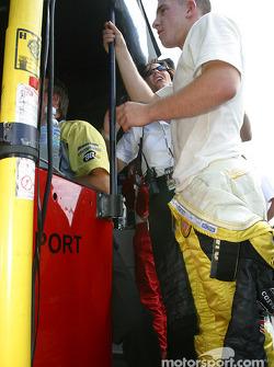 A.J. Allmendinger loses the pole to Sébastien Bourdais in the last minute of the session