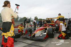 Nelson Philippe checks pitstop practice at Mi-Jack Conquest Racing