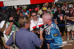 Interviews for pole winner Paul Tracy