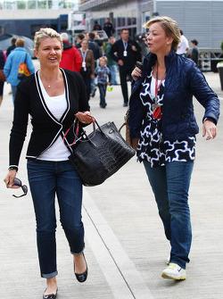 Corinna Schumacher, wife of Michael Schumacher with Sabine Kehm, Michael Schumacher's press officer