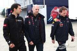 Remi Taffin, race engineer Renault F1 Team  with Adrian Newey, Red Bull Racing, Technical Operations Director with Christian Horner, Red Bull Racing, Sporting Director