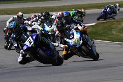 #1 Monster Energy Graves Yamaha, Yamaha R1: Josh Hayes #79 Rockstar Makita Suzuki, Suzuki GSX-R1000: Blake Young