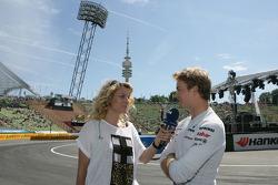 Christina Surer with Nico Rosberg Mercedes Grand Prix