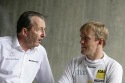 Ingmar Persson Mercedes Team Persson and Mattias Ekström, Audi Sport Team Abt Audi A4 DTM