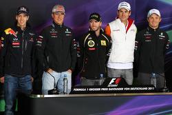Timo Glock, Marussia Virgin Racing, Sebastian Vettel, Red Bull Racing, Michael Schumacher, Mercedes GP F1 Team, Nick Heidfeld, Lotus Renault GP, Adrian Sutil, Force India F1 Team, Nico Rosberg, Mercedes GP F1 Team