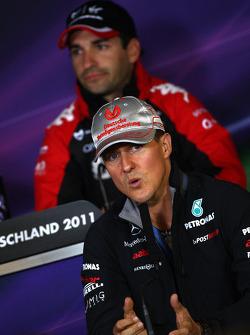 Michael Schumacher, Mercedes GP F1 Team, Timo Glock, Marussia Virgin Racing