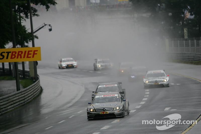 Start: Bruno Spengler, Team HWA AMG Mercedes C-Klasse leads the field