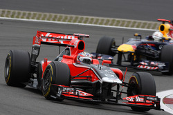 Timo Glock, Marussia Virgin Racing, Sebastian Vettel, Red Bull Racing