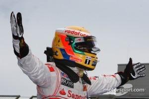 2o11 race winner Lewis Hamilton, McLaren Mercedes celebrates