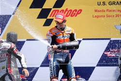 Podium: race winner Casey Stoner, Repsol Honda Team