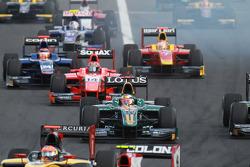 Jules Bianchi leads Josef Kral, Max Chilton and Dani Clos