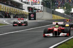 Lewis Hamilton, McLaren Mercedes, drive through